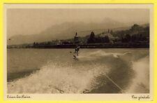 cpa 74 - EVIAN les BAINS (Haute Savoie) Vue générale SKI NAUTIQUE lac Léman