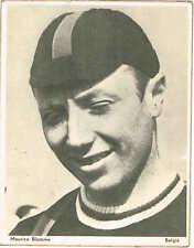 Carte néerlandaise 11x14 du coureur cycliste belge Maurice Blomme années 50
