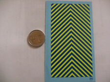 decalque decalcomanie chevron bleu et jaune fluo gendarmerie 1/43