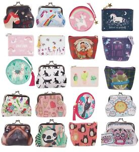 Ladies Girls Kids Purse Tic Tac Coin Bag Small Wallet Pouch Unicorn Dog Cat