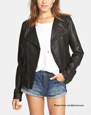 "VOLCOM ""Stone Row"" Black Leather Motorcycle Jacket :: SEXY!! :: Size M"