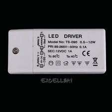 New 12W LED Driver Power Supply Transformer for LED Strip Lights DC 12V 1A