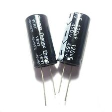 2PCS 450V 120uF 450Volt 120MFD Electrolytic Capacitor 18mm×35mm