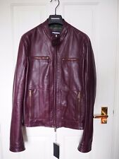 Stunning Dsquared purple leather biker jacket - size 38 (EU48) BNWT