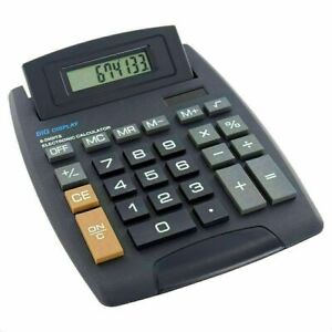 LARGE Tilt Display Jumbo Desktop Calculator Big Button School Office Desk