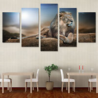 5Pcs Set Abstract Lion Wall Decor Art Painting Modern Picture Mural Canvas Paint