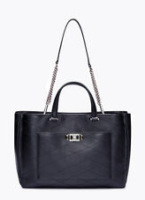 NEW Rebecca Minkoff Je Taime True Navy Leather Convertible Work Tote NWT $345