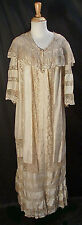 BELLE EPOQUE BOUDOIR PEIGNOIR c1905 SILK SATIN GOWN MUSEUM DE-ACCESSIONED