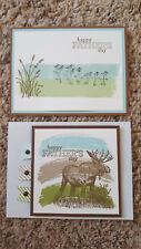 2 Stampin' Up! Father's Day Cards, Moose, Seagulls