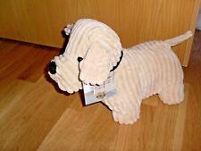 Türstopper Türpuffer Doorstop Landhaus Hund Steppmuster Beige Top-Qualität