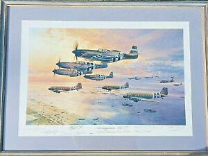 Aviation Art D-Day-THE AIRBORNE ASSAULT Signed By Robert Taylor And 11 Crewmen