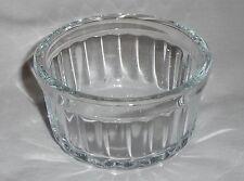 "0.14L - 8.5cm Diameter RAMEKIN - NEW Clear Round Glass baking desert dinner 3.5"""