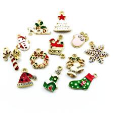 DIY Wholesale 12Pcs Gold Mix Christmas Pendants Charms Party Decor Ornament Set