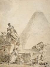 Hubert Robert French Roman CAPRICCIO PIRAMIDE Gaius CESTIUS d'arte stampa bb5717a