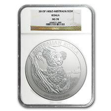 2015 Australia 1 kilo Silver Koala MS-70 NGC - SKU #91600