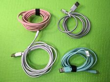 Lot 4x Blackweb  Sync-Charge Cable Micro-USB Connector 1 Metal  & 3 Rubber  New