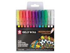 Sakura Gelly Roll Stardust Pen-fluorescente Luz de la luna color billetera conjunto de 12