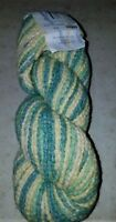 SKEIN/HANK OF (DISCONTINUED) CASCADE YARNS BULKY LEISURE HD ~ GREEN/CREAM