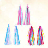 2 Pcs Bike Handlebar Streamers Delicate Tassel Ribbons Bicycle Grips Tassels