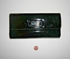 """Wallet - Kenneth Cole / """"Unlisted""""  Black Vinyl Long Checkbook trifold"""