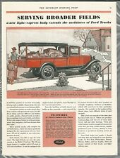 1931 FORD TRUCKS advertisement, canopy top truck, fruit vender