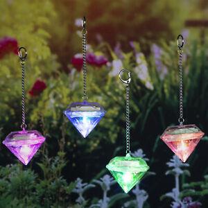 4x Solarleuchte Garten Dekoration Kristall 8 cm Farbwechsel Solar Deko Diamant