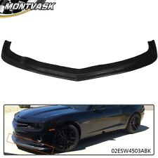 Zl1 Style Front Bumper Spolier Lip For 2010-2013 Chevy Camaro Ss V8 Urethane Pu