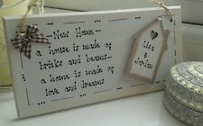 Handmade Personalised Modern New Home Moving House Wooden Hanging Plaque Gift