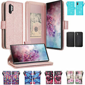 Samsung Galaxy Note 10 | Note 10 Plus Case, Magnetic Flip Leather Wallet Cover