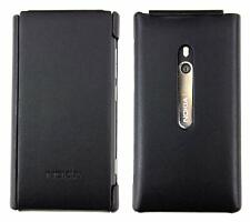 Nokia Lumia 800 Cuero Funda Flip Negro Funcional Funciona Con Nokia con licencia