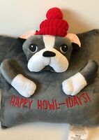 Boston Terrier 3-D Holiday Pillow Very Unusual