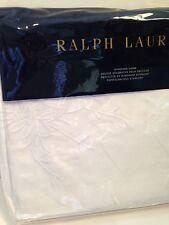 Ralph Lauren Deauville White Embroidered Standard Pillow Sham New Jemma 20 x 28