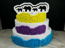 Elephant and Baby Fondant Cake Cutter - Sharp Edges, Baby Shower Gender Reveal