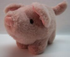 "VINTAGE Mary Meyer PINK PIG 8"" Plush STUFFED ANIMAL Toy"