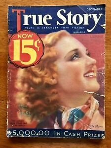 Vintage Copy of TRUE STORY December 1932 COVER Leila Hyams