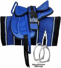 All Purpose Freemax Synthetic Horse Saddle With Handle,Navajo Pad & Stirrups