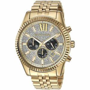 MICHAEL KORS MK8494 Lexington Gold Glitz Unisex Watch