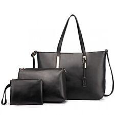 Damentasche Shopper Tragetasche 3 in 1 Tasche XXL Übergroß Kunst Leder Sehr Groß