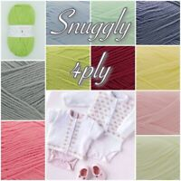 Sirdar Baby SNUGGLY 4ply Nylon Acrylic Pattern and Yarns 50g/100g