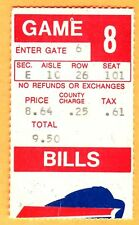 11/20/77 BILLS/PATRIOTS TICKET STUB