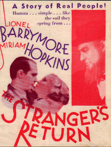 Stranger's Return Original Movie Herald from the 1933 Movie