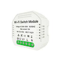 WiFi Light LED Dimmer Switch Module Hidden Smart Switch 1/2Way Switch Home SH