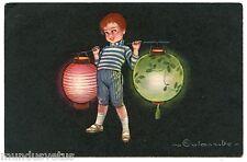 ILLUSTRATEUR COLOMBO. PETIT GARçON. LITTLE BOY. LAMPIONS. CHINESE LANTERNS.