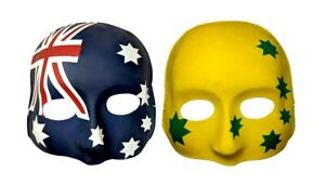 Australian Aussie Flag Face Mask OR Green and Gold Face Mask- Aussie Party