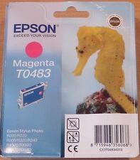 GENUINE EPSON T0483 TO483 Magenta Cartouche Vide Scellé Original Hippocampe encre