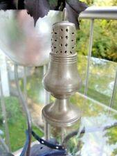 antiker Zinn Zuckerstreuer, Salzstreuer Deutsch neuzeitlich Höhe ca. 14 cm gemar