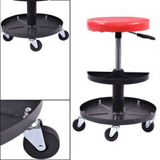 HD Mechanics Creeper Seat Rolling Work Stool Tools Tray Chair Auto Shop