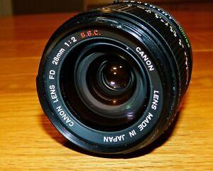 CANON FD SSC 28mm f/2.0 LENS - NICE!