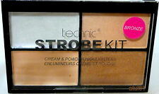 Technic Strobe Highlighters Palette Kit Cream and Powder Bronze