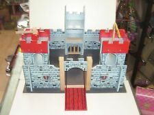 "90'S VINTAGE WOODEN BUILDING TOY LARGE CASTLE MEDIEVAL MINT 18""x20"""